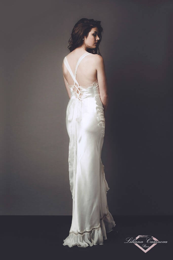 Liliana Casanova Grace Gown Back