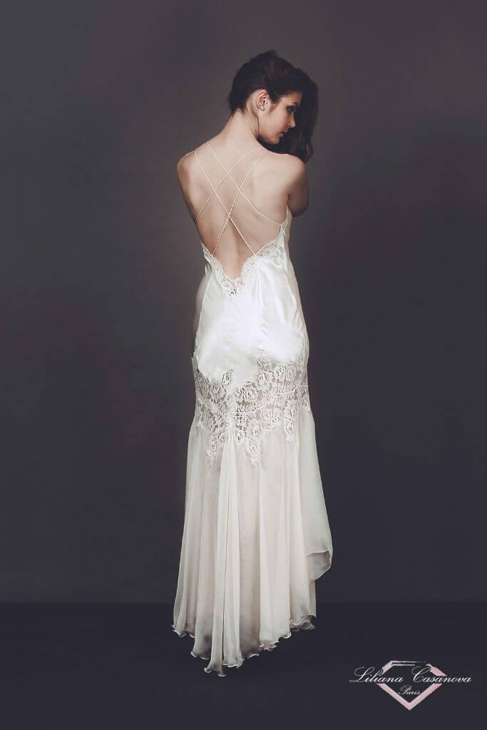 Liliana Casanova Saumur Gown Back