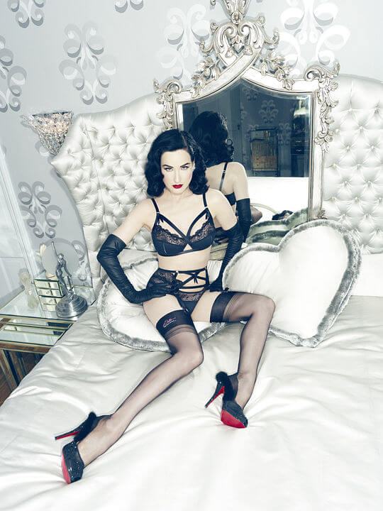 Dita modeling Madam X in her Von Follies collection
