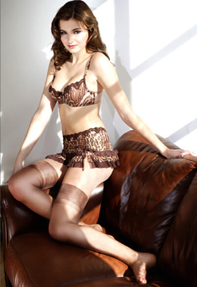 Brown nylon stockings