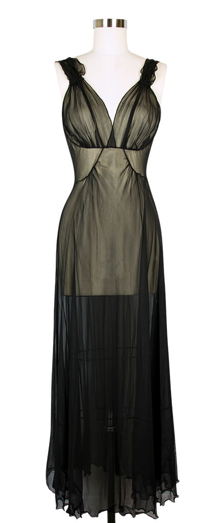 Mary Green Silk Georgette '40's' Gown - $163.00