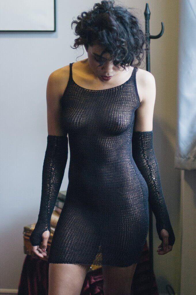 Maude Nibelungen Knit Dress. Halloween Lingerie.