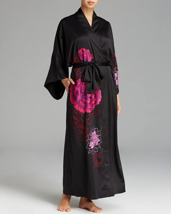 Natori Silky Charm Embroidered Robe (Was $295, Now $221.25)