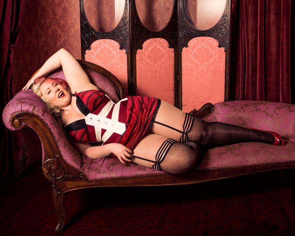 "Pop Antique ""Vixen"" Ribbon Corset | Model: Nicole Simone | Photo © Max Johnson"