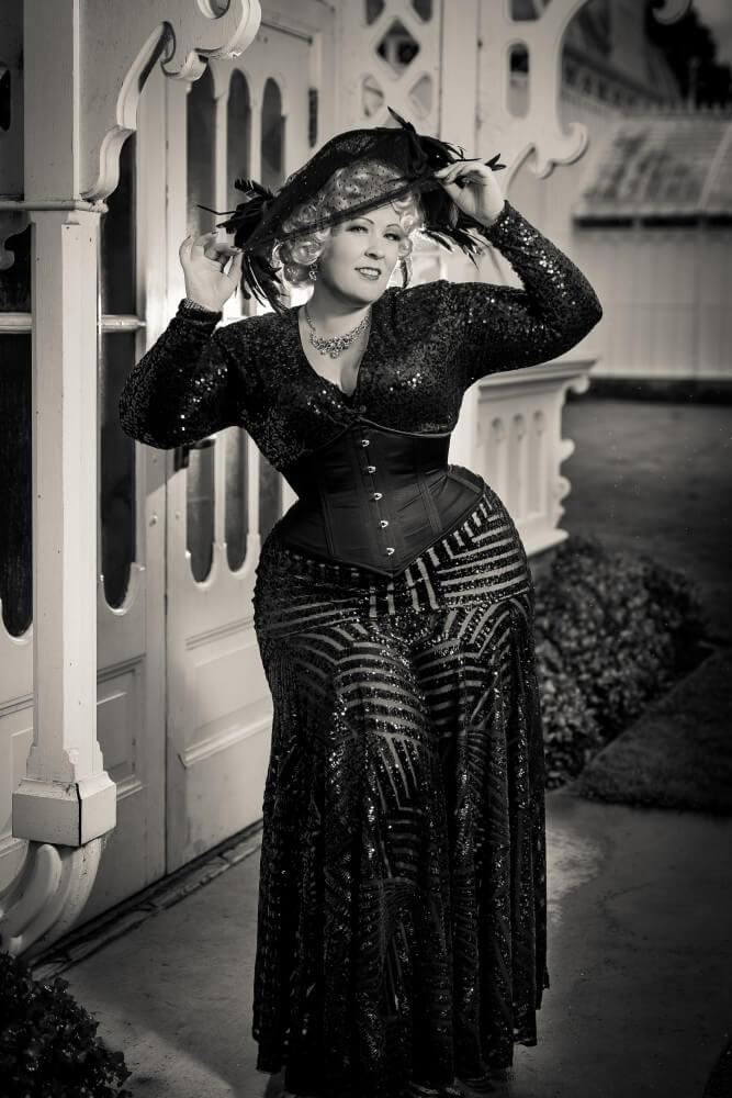 "Dark Garden ""Corselette"" with fit personalizations | Model: Nicole Simone | Photo © John Carey"