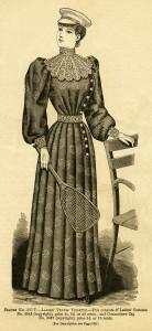Ladies' tennis outfit 1892