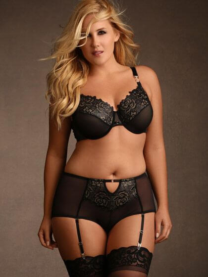 Olivia Glazed Embroidered Set by Hips and Curves