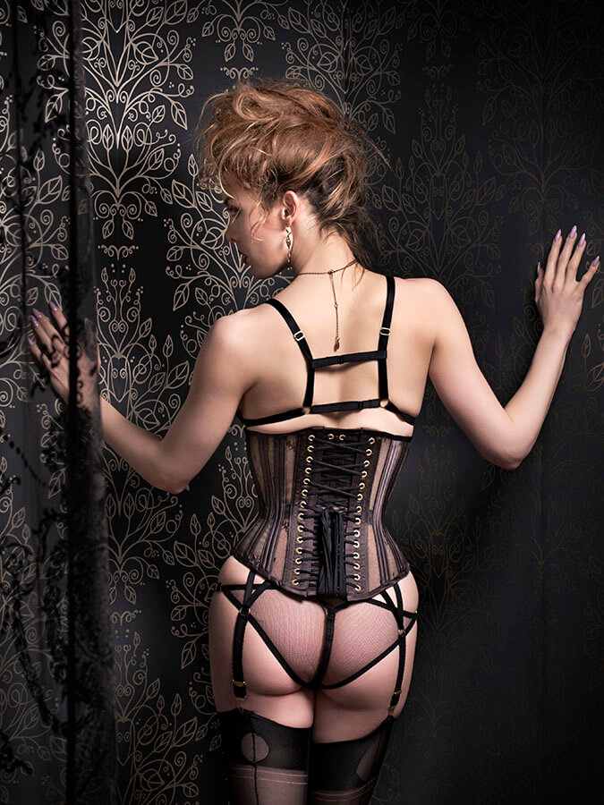 "Orchid Corsetry ""Dusk"" Lingerie Set"