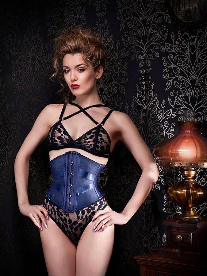 "Orchid Corsetry ""Midnight"" Lingerie Set"