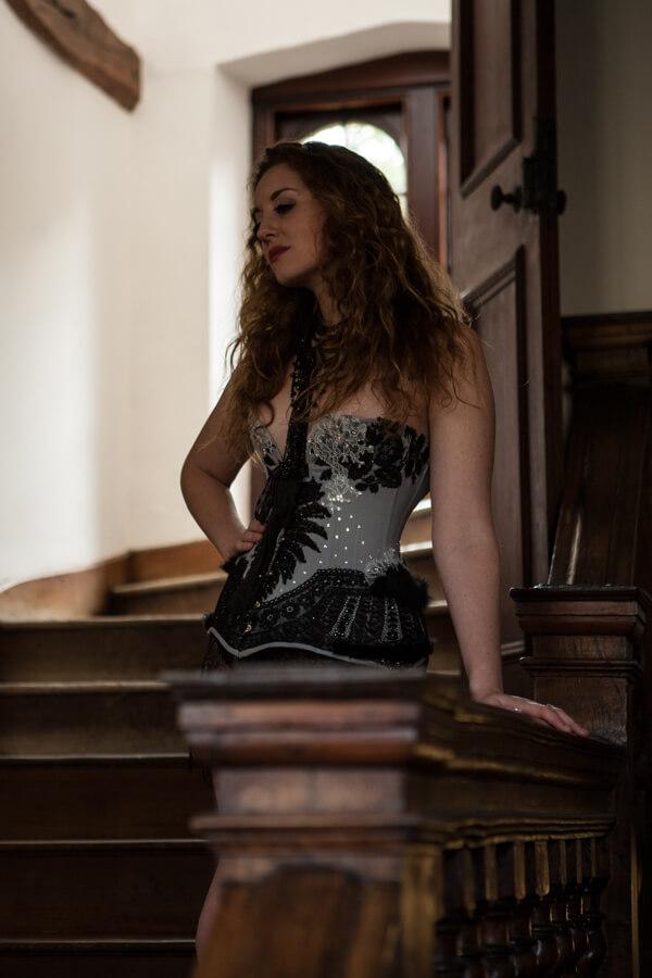 Oxford Conference of Corsetry - Ella Rose modelling a Karolina Laskowska corset