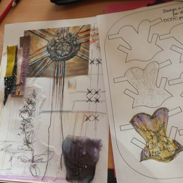 Oxford Conference of Corsetry - Paper Dolls and Mood board