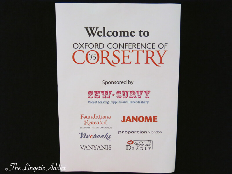 Oxford Conference of Corsetry Welcome