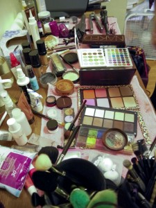 Maria's makeup table!