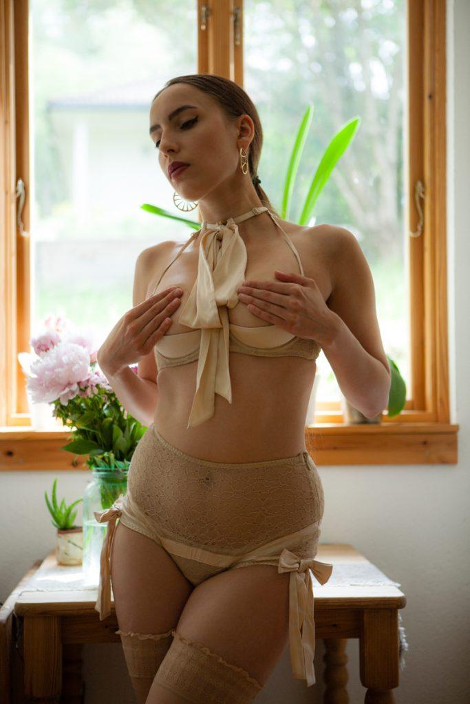 'Kelly' lingerie set by Agent Provocateur. Photography by K. Laskowska