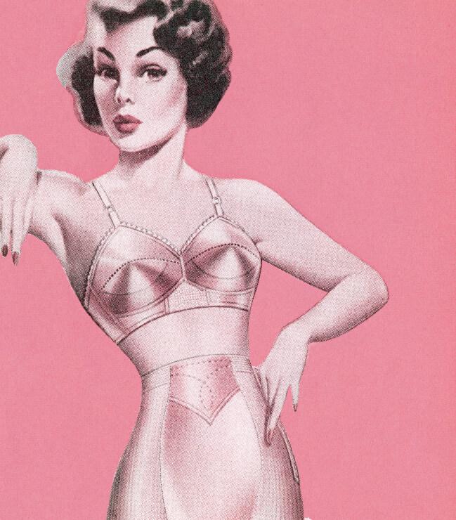 Matures in retro lingerie