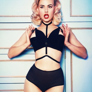 Playful Promises: Full Bust Lingerie with Retro Appeal