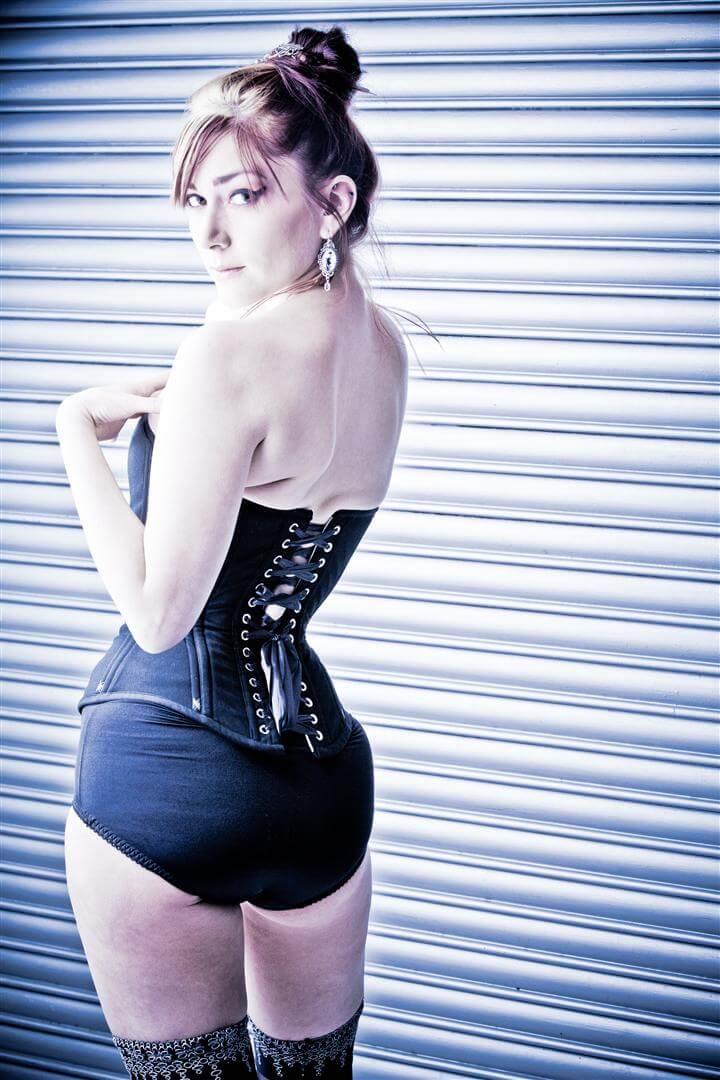 "Pop Antique ""Vamp"" corset | Model: Victoria Dagger | Photo: Karolina Marek"