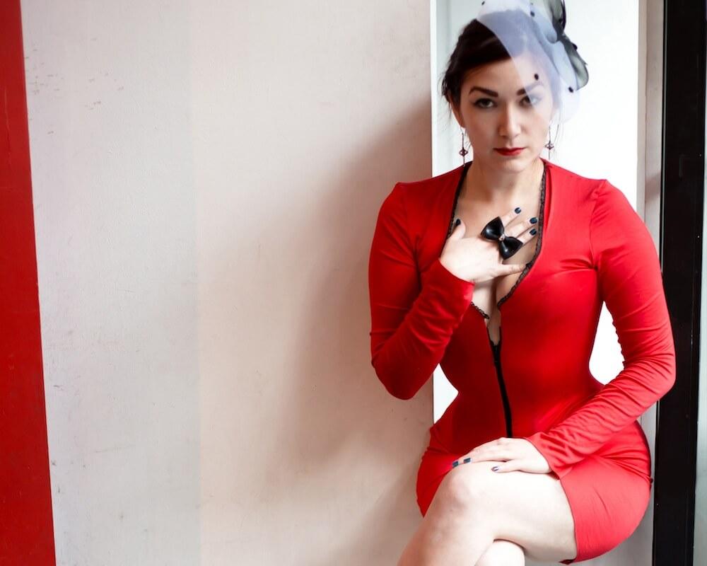 Corset dress by Pop Antique   Model: Victoria Dagger   © Max Johnson