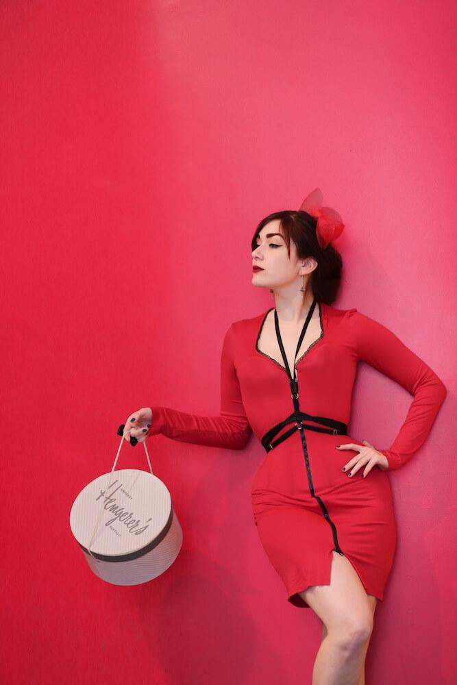 Pop Antique jersey corset dress | Victoria Dagger | © Max Johnson