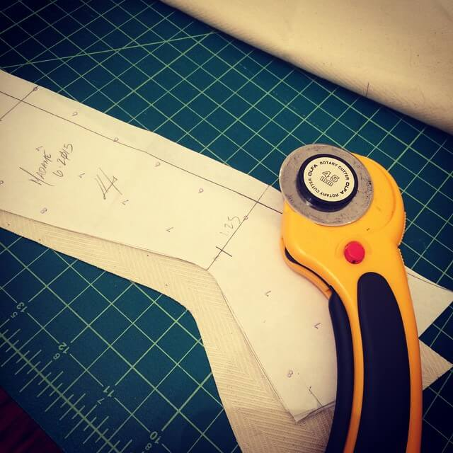 Pop Antique corset mockup in progress: Cutting is my least favorite part of the process. | Photo © @popantique via Instagram