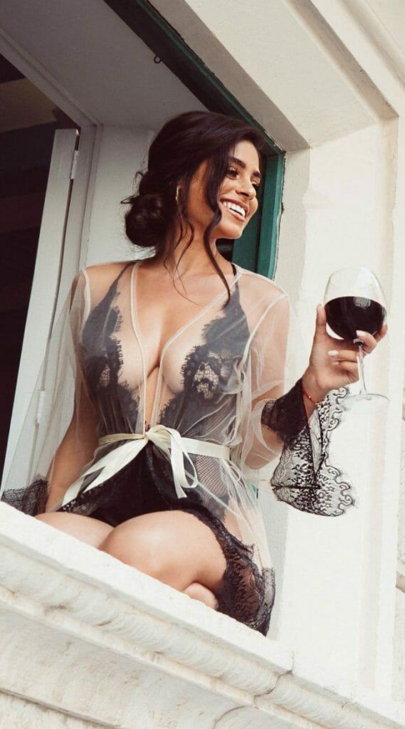 Roma Sheer Eyelash Lace Robe