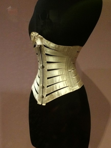 e51c3fc032 Ribbon corset. Taken at the Victoria and Albert museum. Photo by Ruth  Schechner.