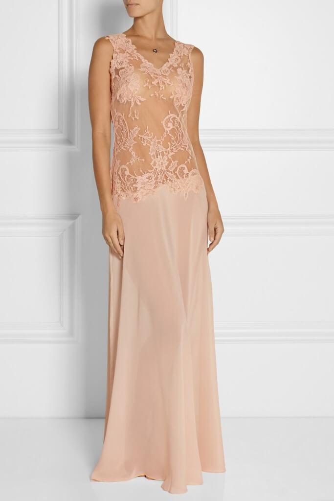 Rosamosario Bella Nostalgia Tulle and Silk Nightdress - $1,425.00