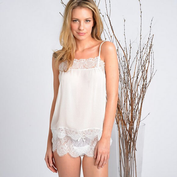 Samantha Chang Honeymoon Cami and Tap Short via Journelle - $168