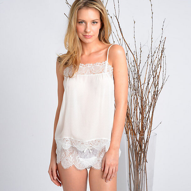Samantha Chang Honeymoon Cami and Tap Short via Journelle