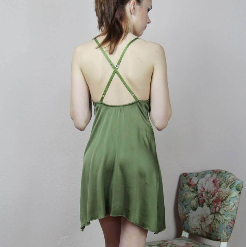 Sandmaiden green chemise back