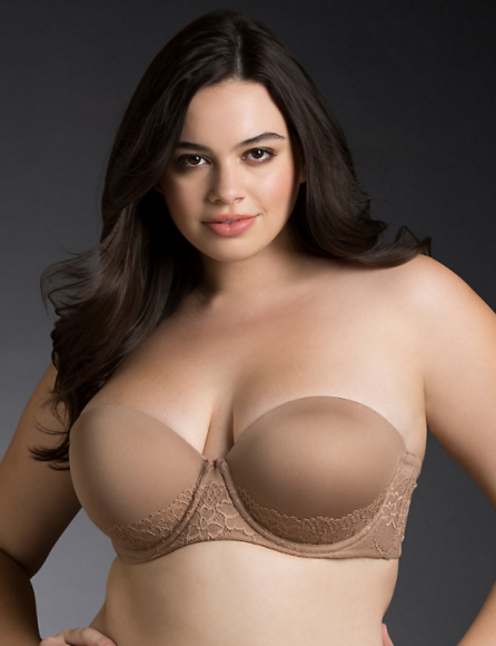 Strapless bra by Torrid in Gingersnap (sold out online, band sizes to 48)