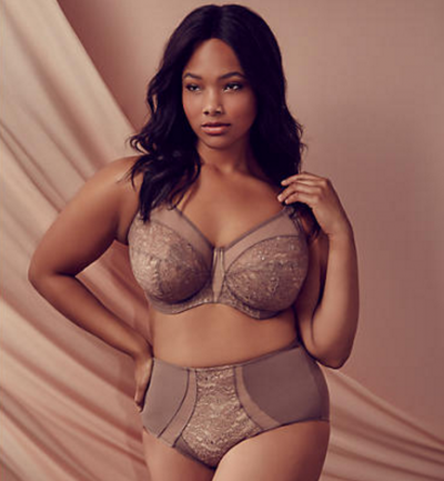 Elomi's Raquel Side Support in Taupe, band sizes to 44