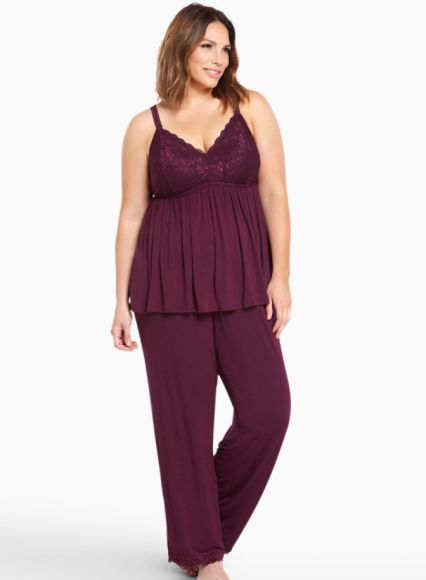 Torrid Lace Bust Babydoll Tank and Pant