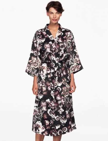 Ellos Floral Print Robe
