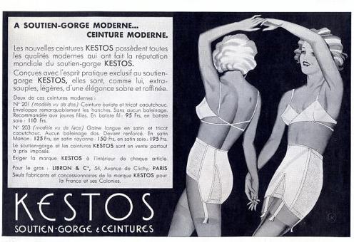 Kestos. Vintage Lingerie Trends - Bralettes