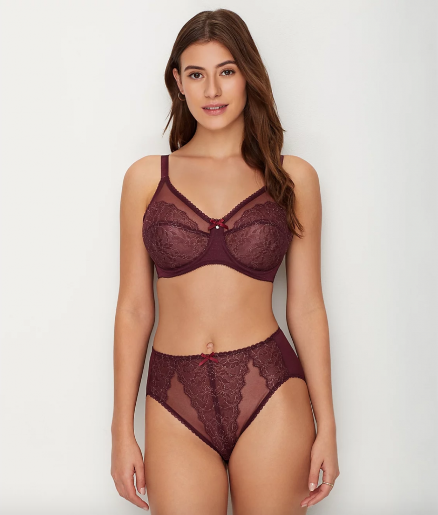 Wacoal Retro Chic Bra in Wine