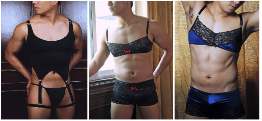 Spangla, a potential choice for genderfluid, AMAB lingerie wearers