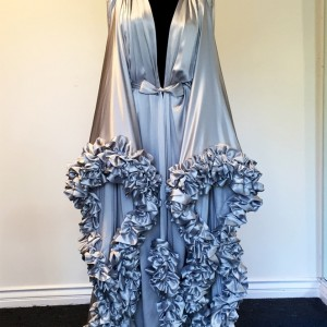 Lingerie Wishlist: Catherine D'Lish Silver Silk Charmeuse Dressing Gown