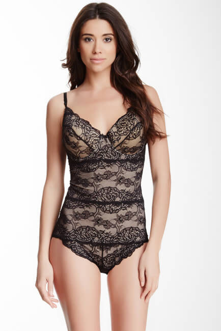 Skinnygirl By Bethenny Frankel Lace Shaping Bodysuit