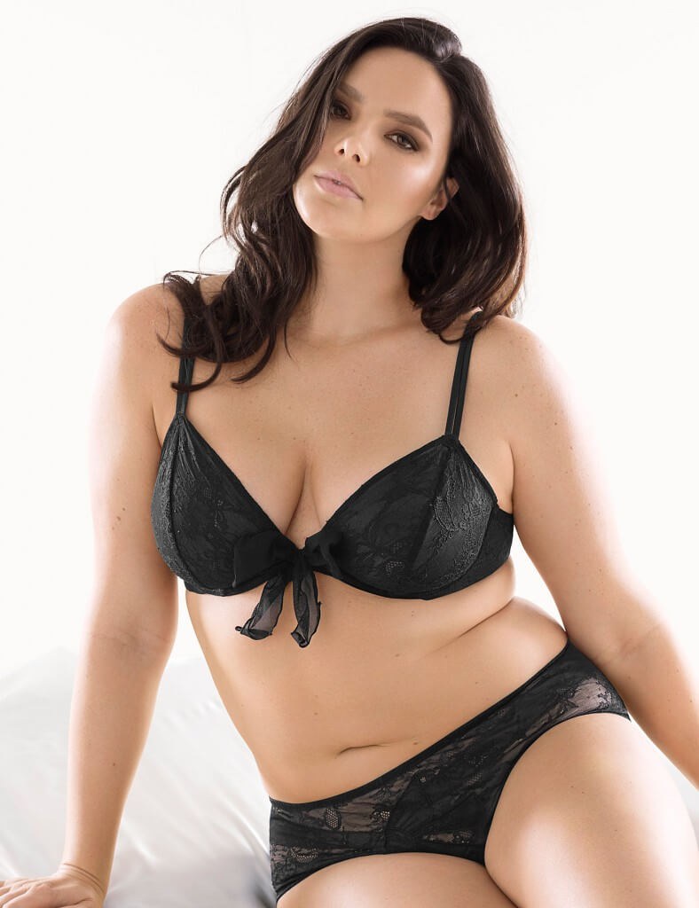 Black Plunge Bra and Panties by Sophie Theallet and Lane Bryant
