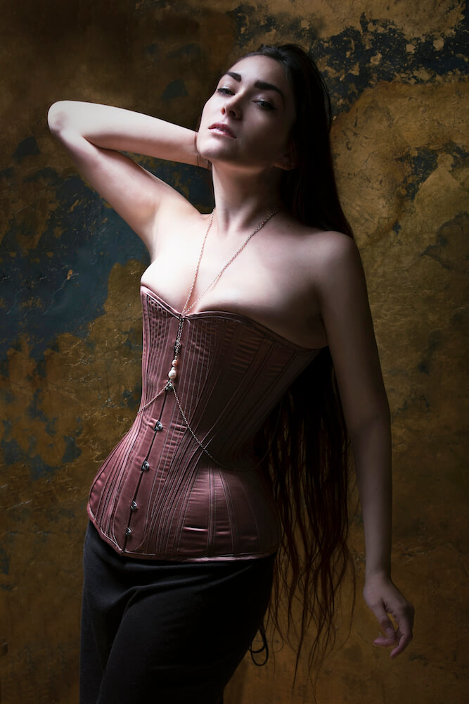 "Sparklewren ""Rose Gold"" corset 