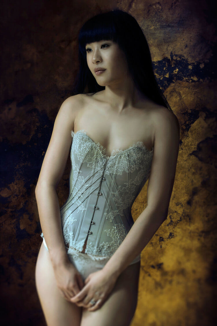 "Sparklewren ""Soft Dove"" corset 