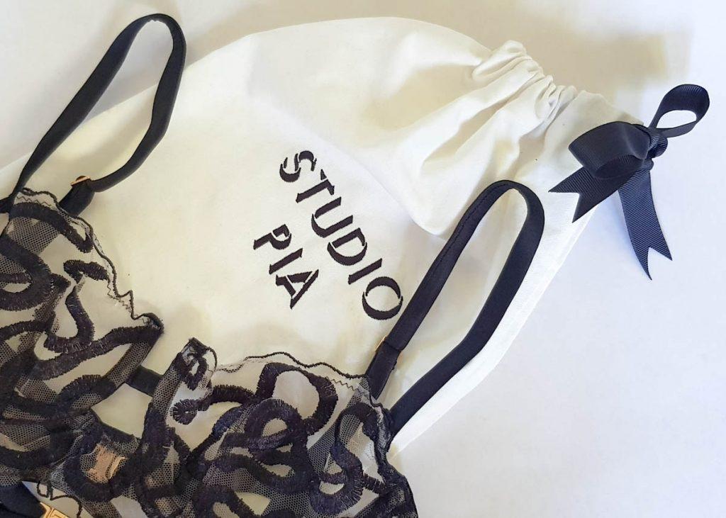Studio Pia dustbag and 'Naga' longline bra. Photography by K. Laskowska
