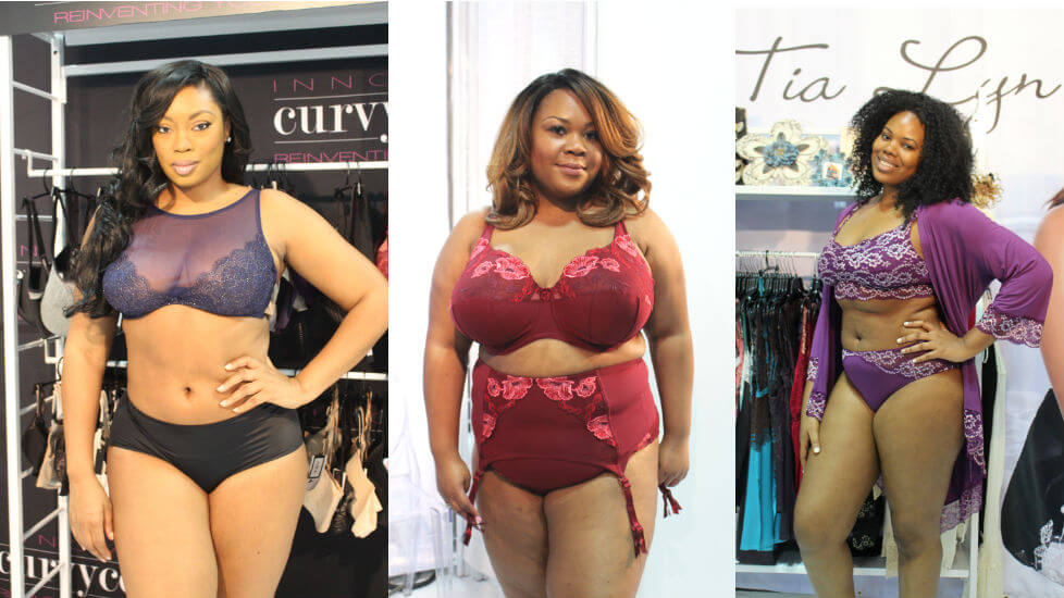 Designs from Curvy Couture, ELILA, and Tia Lyn as seen at CURVEXPO Fall/Winter 2017