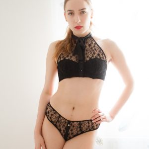 Luxury Lingerie Review: Fleur Du Mal Star Lace Halter Bra & Briefs