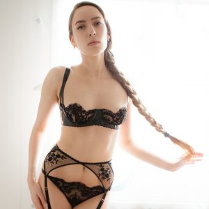 Loveday London Luxury Lingerie Review: Leather & Lace 'Oncilla' Bra Set