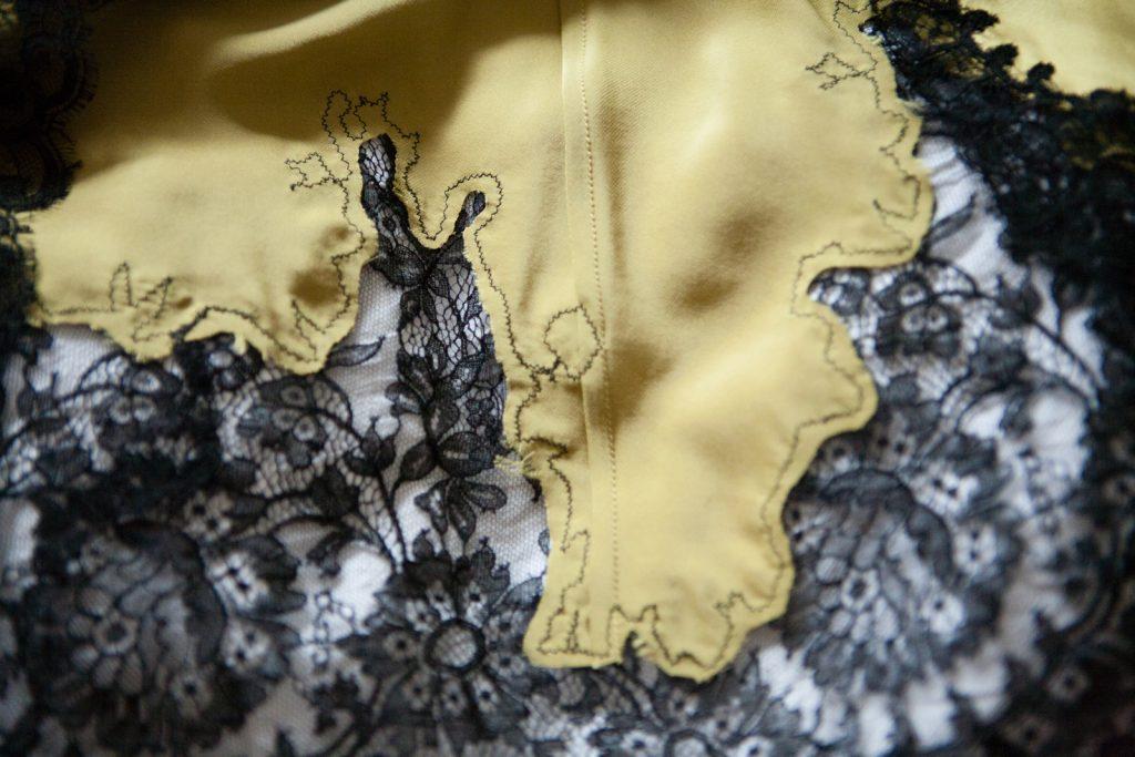 French luxury loungewear label Marjolaine's 'Rare' slip. Photo by Karolina Laskowska