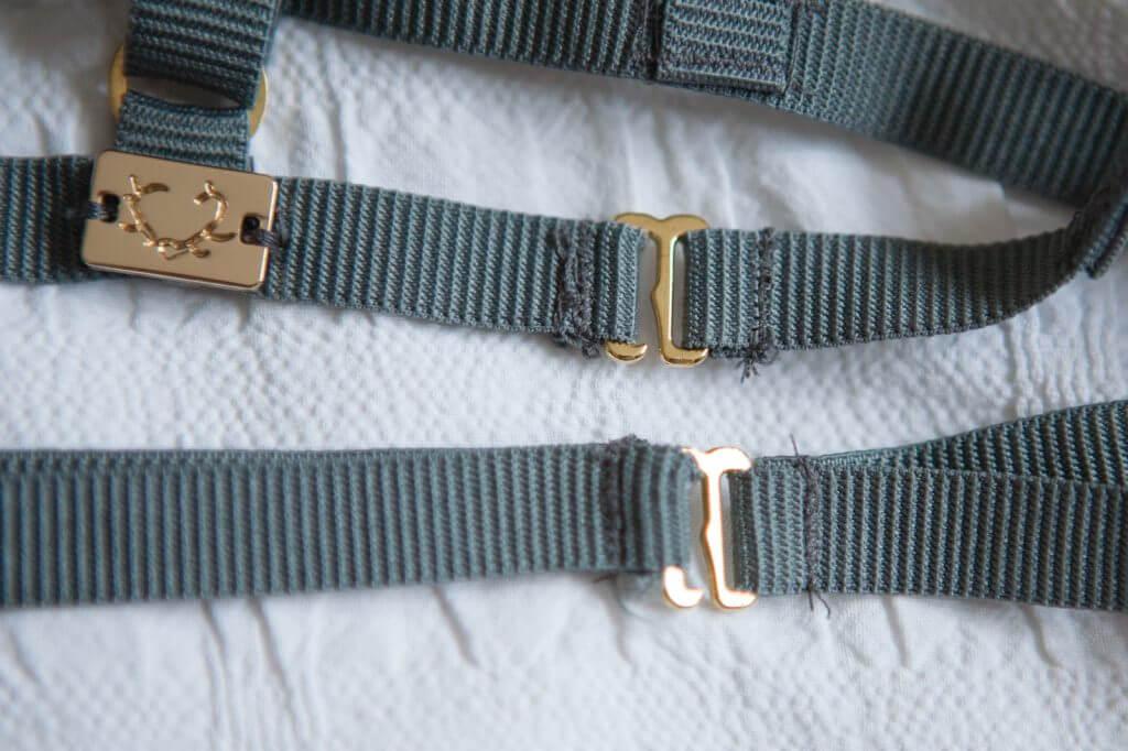 Back fastening on the Nikkie bralette by Skivvies By For Love & Lemons. Photo by Karolina Laskowska.