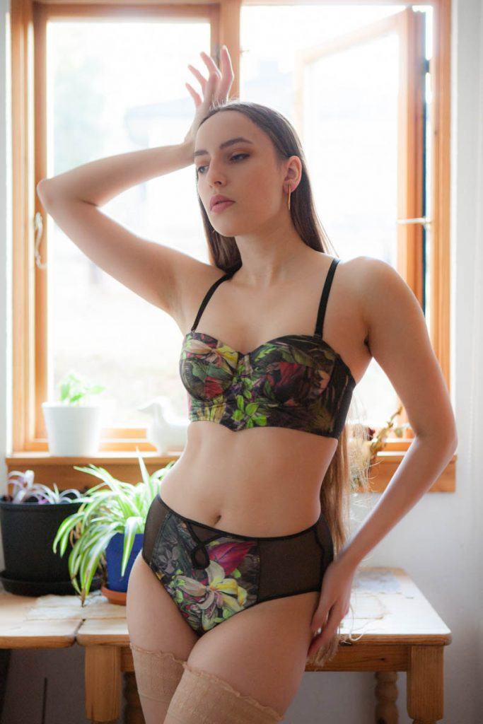 Department Of Curiosities Longline Brassiere & High Waisted Briefs. Photo by K. Laskowska
