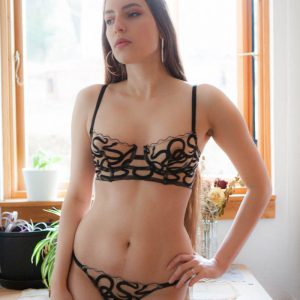 Luxury Lingerie Review: Studio Pia 'Naga' Embroidered Longline Bra & Briefs